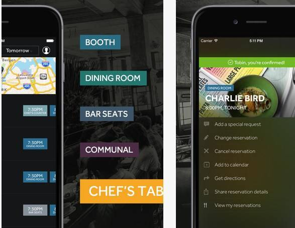 Resy API allows restaurant reservations ability for apps