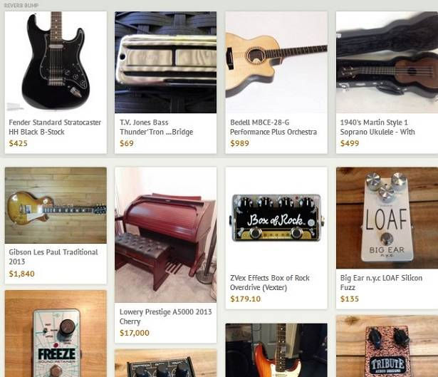Reverb music marketplace