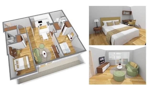 3D floor plans made with REW.Ca and CubiCasa API