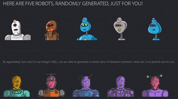Animated Robot images generated from Robothash