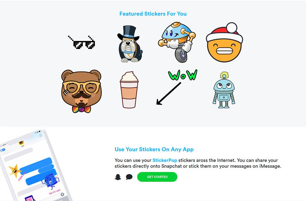 Get programmatic access to a library of stickers for apps via this API