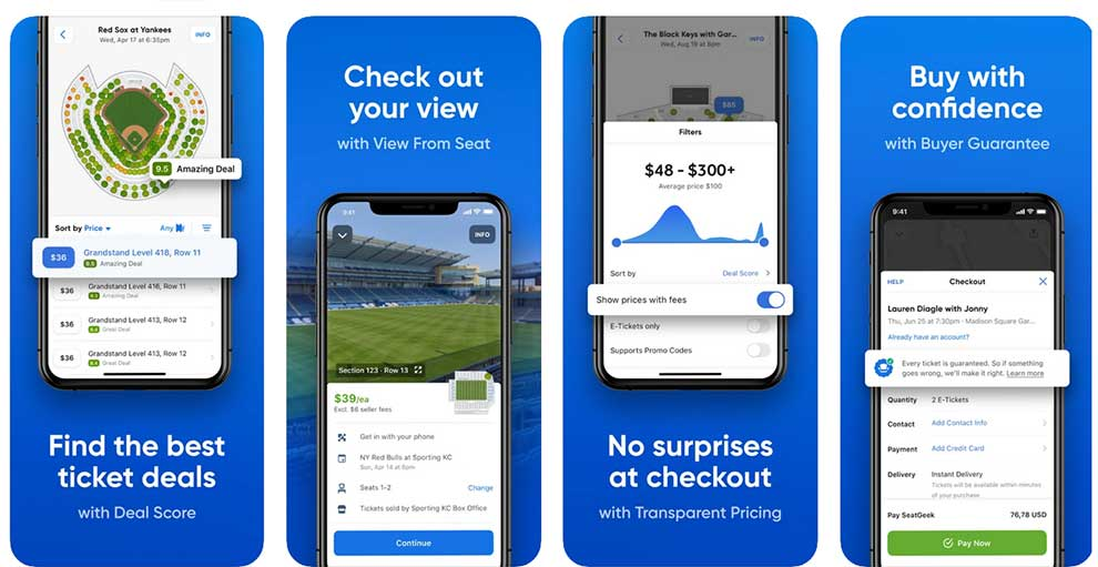 SeatGeek offers Android and iPhone apps for buying tickets