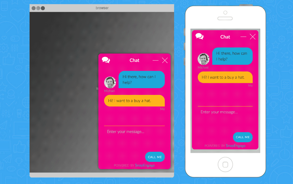 SnapEngage allows for brand customization of customer chat