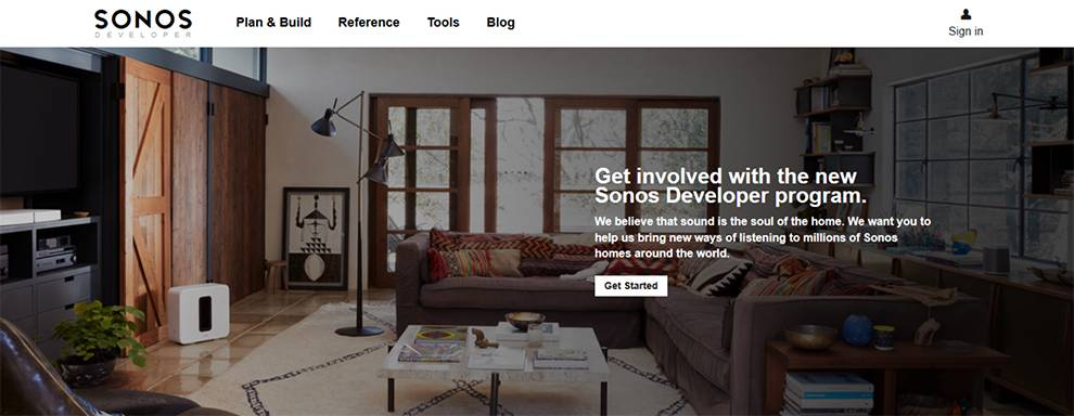 Sonos Sound Platform allows developers to build integrations for sound throughout a home