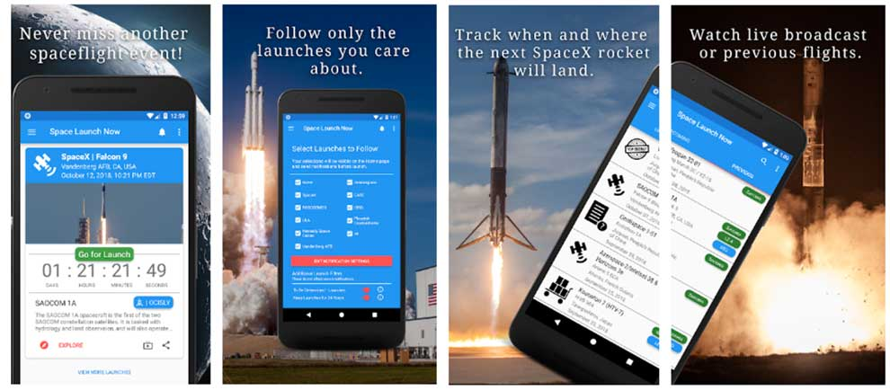 Space Launch Now provides space launch updates and data, plus an API for integration