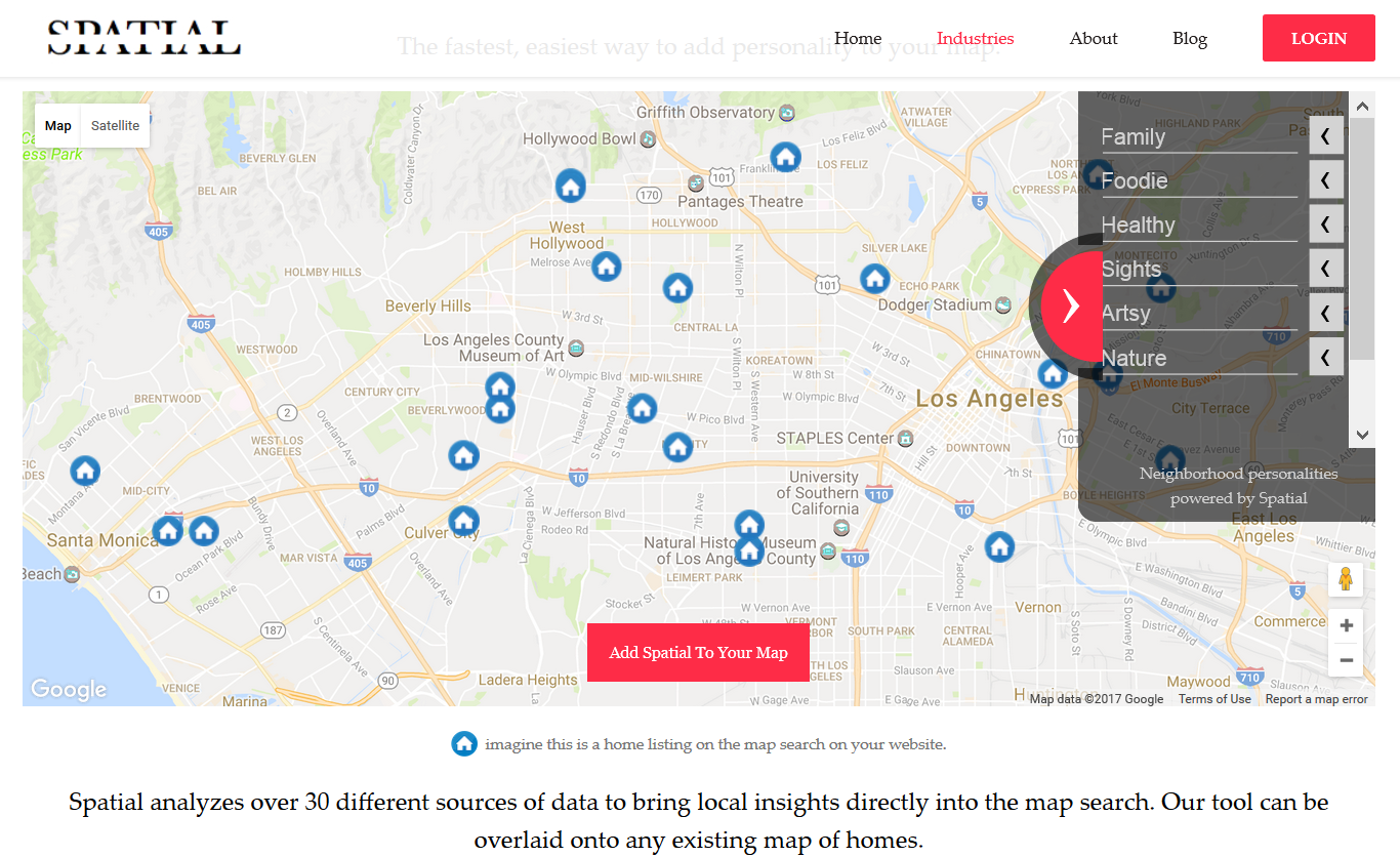 Add intelligent social data to maps and apps with Spatial API