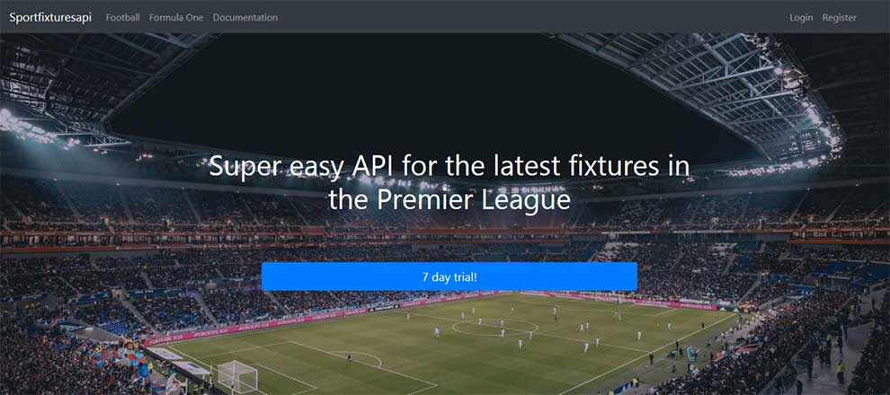 Get events data about Premier League soccer with this API