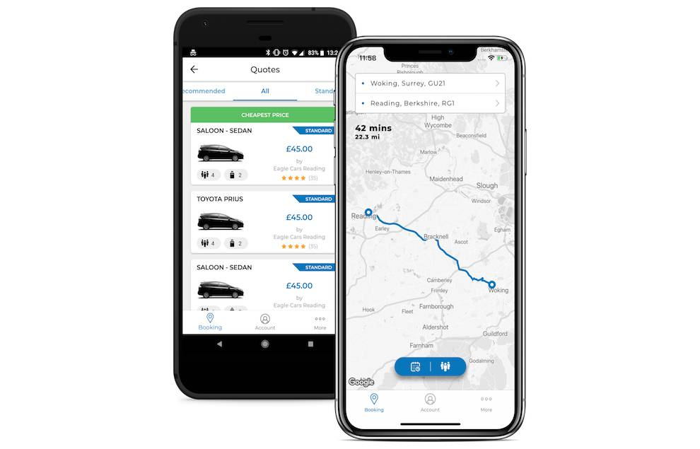 Get quotes about ride rates with Taxicode API