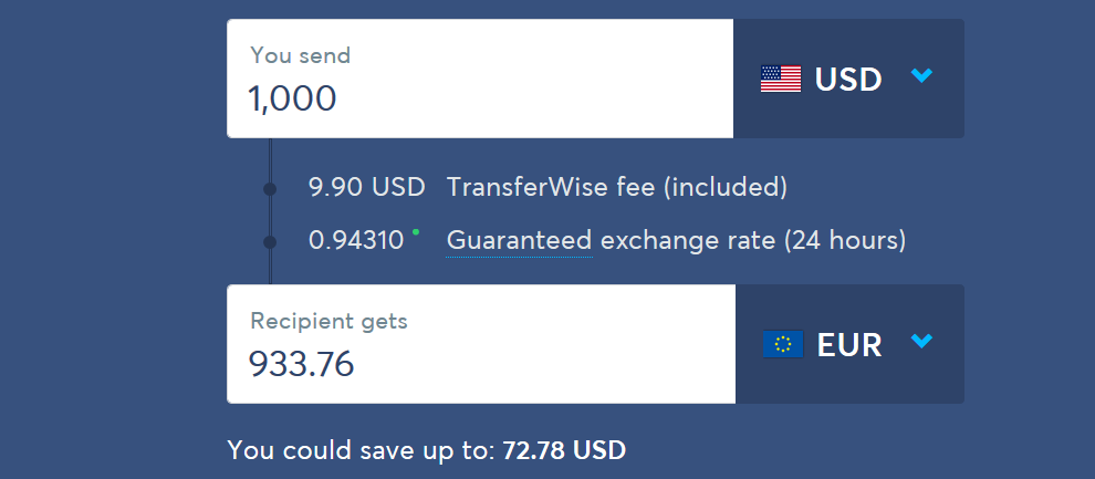 TransferWise gives users the mid-market rate for all money transfer services