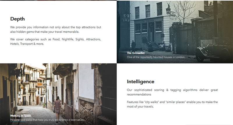 Triposo API uses intelligence to gather relevant travel content