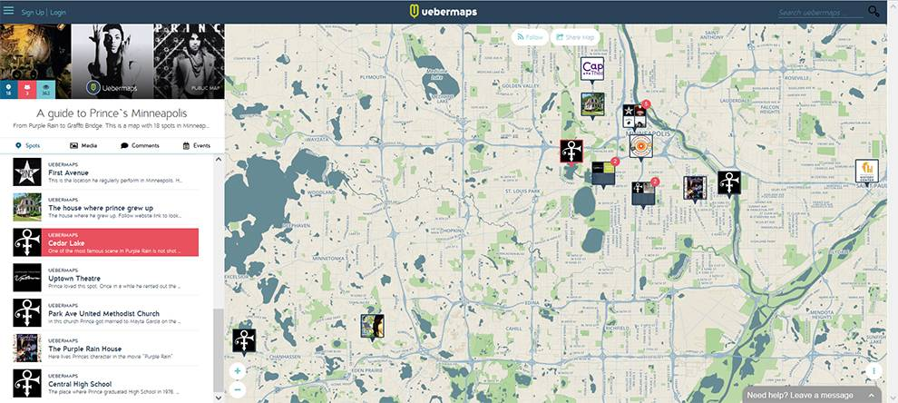 >uebermaps: Guide to Prince's Minneapolis