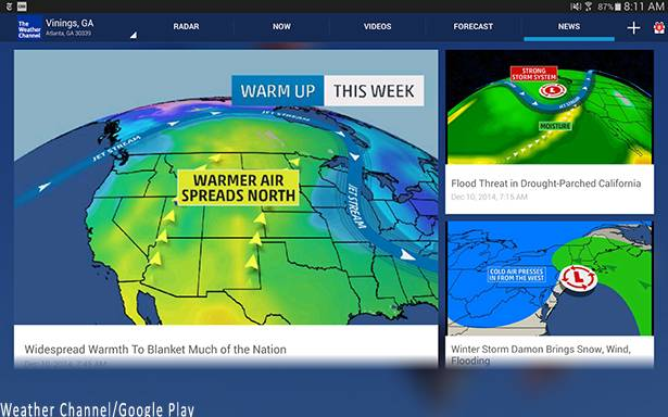 Weather Channel Map Google Maps API Powers Real Time Weather For Weather Channel