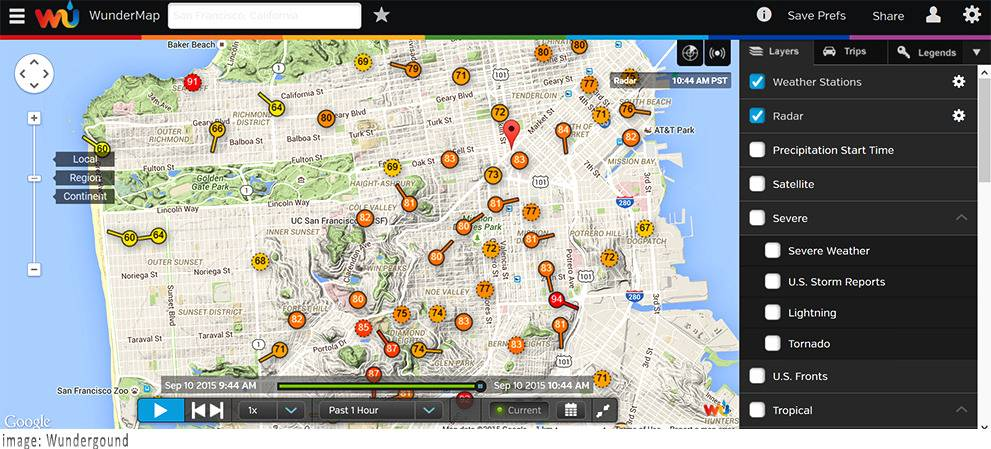 How to Tap The Weather Underground's Plethora of Data Via