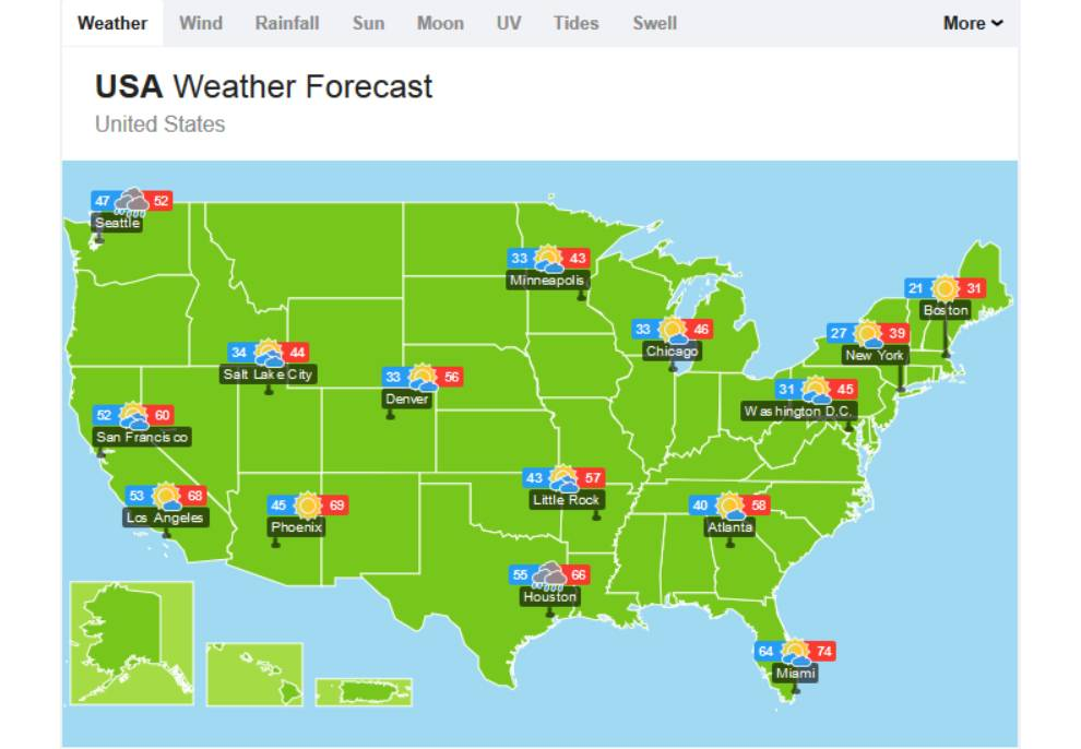 WillyWeather Forecast Map