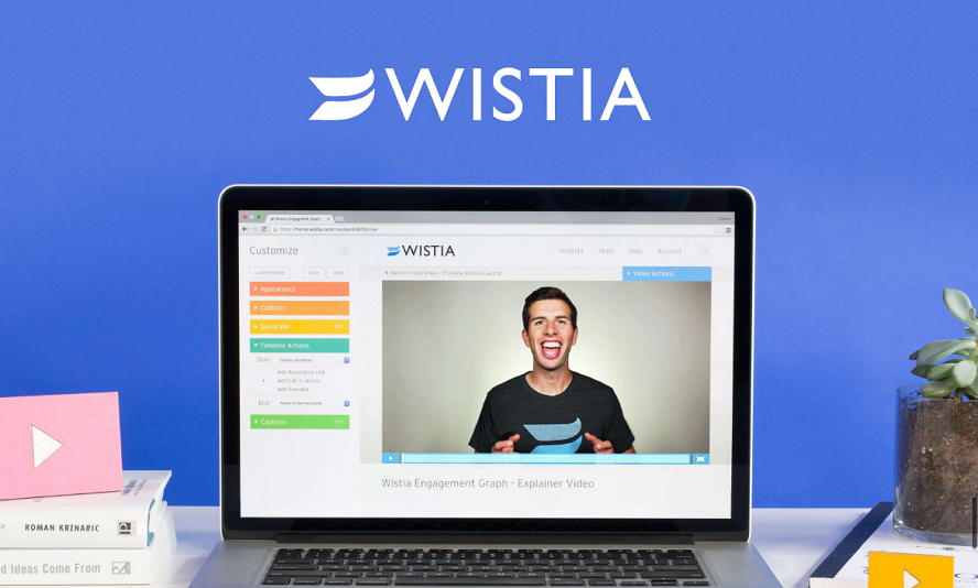 Wistia player delivers HD video, has an API for integration