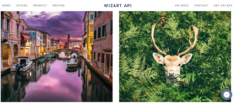 Wizart.io API uses AI to transform images