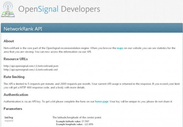 OpenSignal API Ranks Networks by Signal Strength | ProgrammableWeb