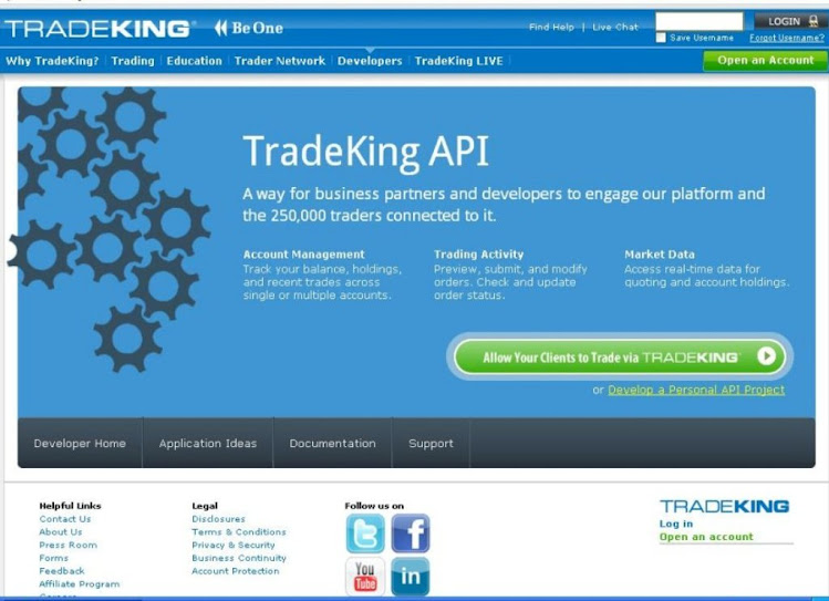 Tradeking api option chain