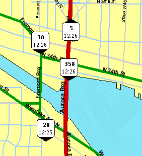 BusView real-time bus location in Seattle