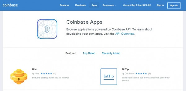 Coinbase's App Store Serves up Bitcoin Applications | ProgrammableWeb