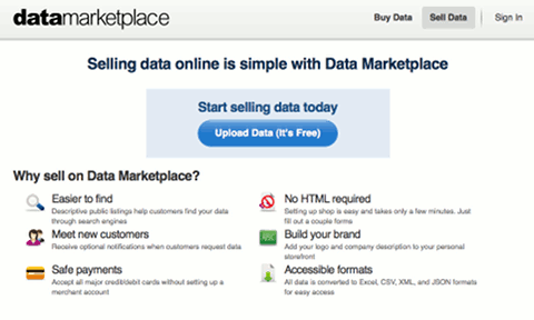 Buy and Sell Data with Data Marketplace | ProgrammableWeb