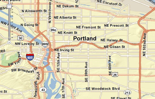 ESRI web map of Portland
