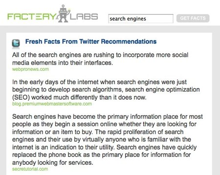 Factery results for search engines search