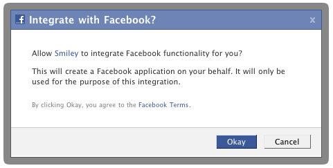 Facebook Create Application