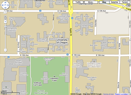 Google Maps Zoom Tool. Google Maps - Campus Map