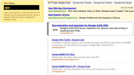 Google AJAX Search