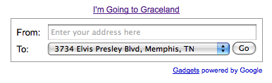 I'm Going to Graceland - Google Directions gadget