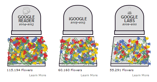 The Google Graveyard