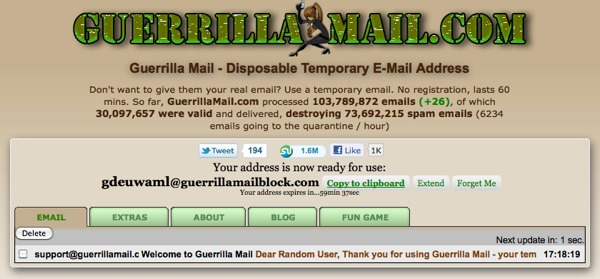 Guerilla Mail, an API That Helps Stop Spam | ProgrammableWeb