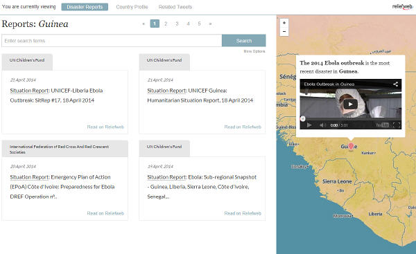 Disaster Tracker prototype application