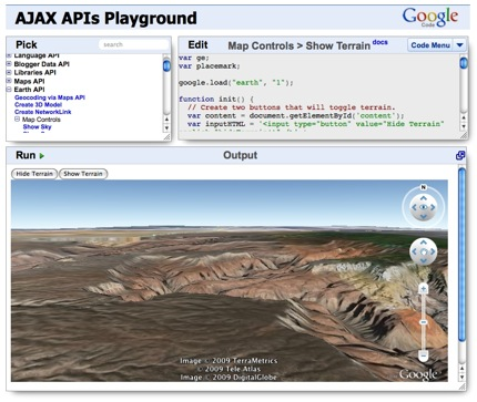 AJAX API Playground