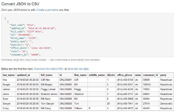 Converter Makes JSON as Understandable as a Spreadsheet