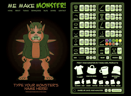 Make Me Monster Design Interface