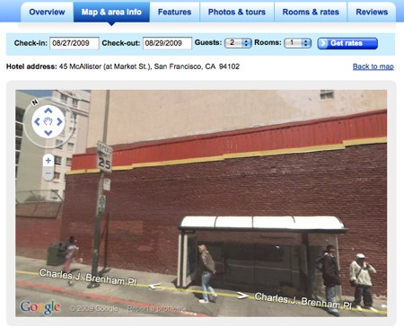 Street View on Orbitz