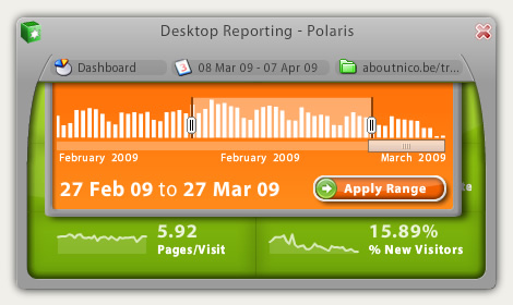 Polaris, a cross-platform Google Analytics desktop app.