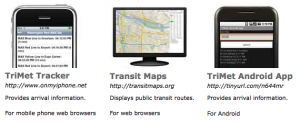 Transit apps for TriMet