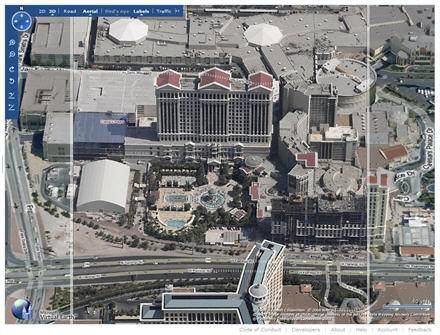 Las Vegas in Virtual Earth