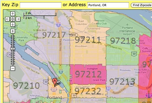 Zip Code Oregon Map.Find Zip Codes With This Useful Map Programmableweb